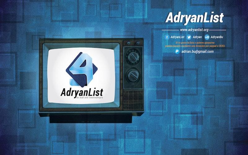 Install Adryanlist IPTV Kodi
