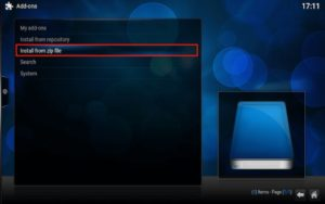 Kodi Addon Install from Zip