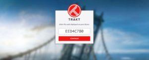 enter trakt code