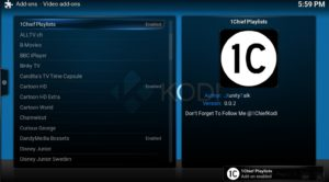 1chief playlists addon enabled