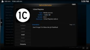 1chief playlists install