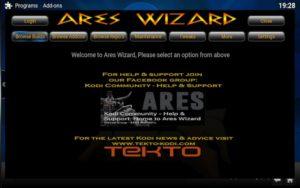 ares wizard kodi