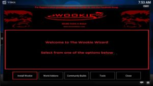 install wookie button