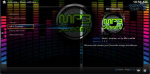 mp3 streams addon