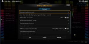 mp3 streams settings